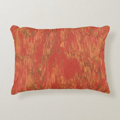 Coral Lava Accent Pillow