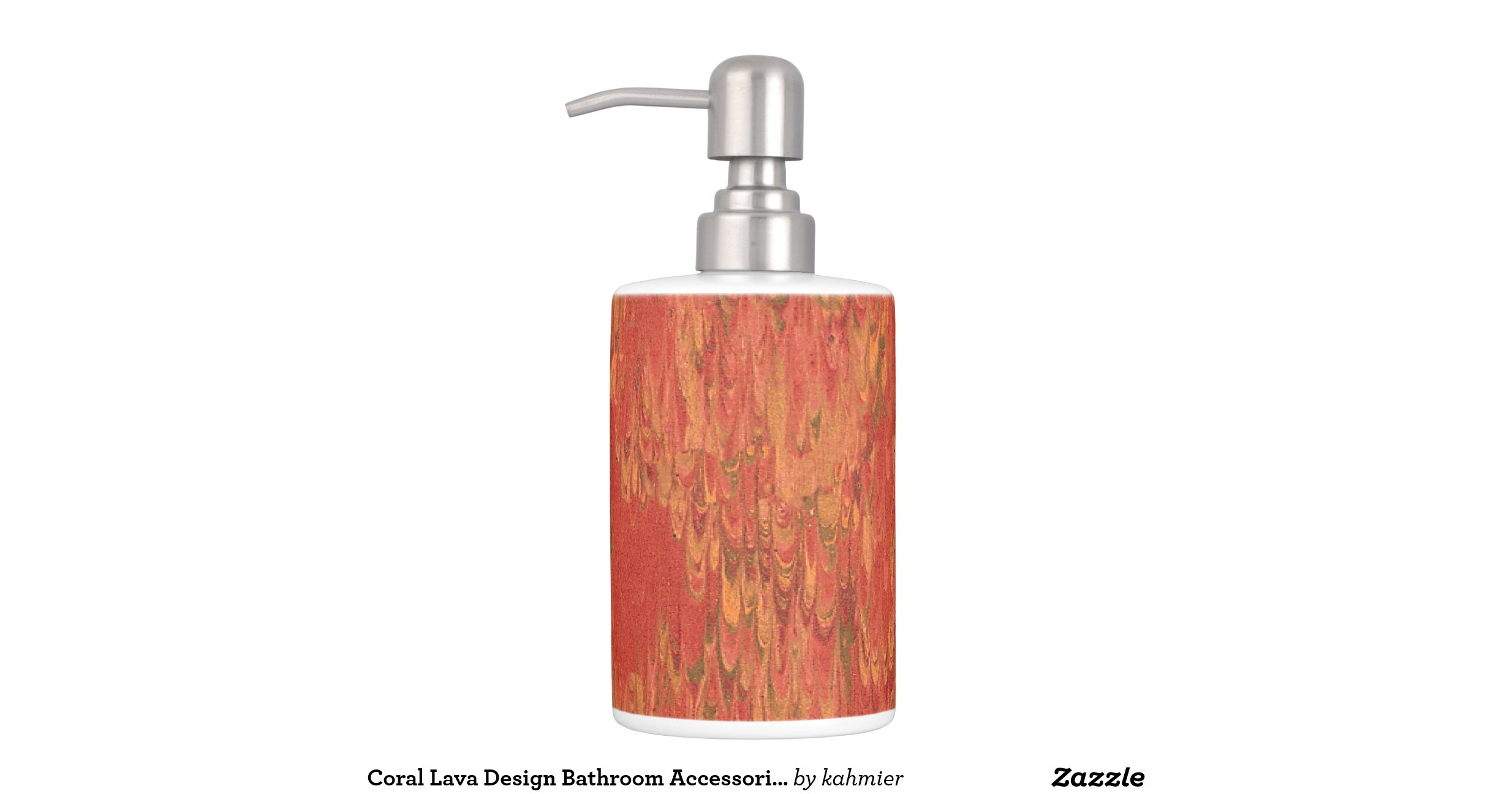 Coral lava design bathroom accessories toothbrush holders for Bathroom decor coral