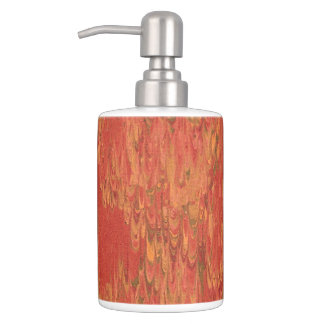 Coral Lava Design Bathroom Accessories Soap Dispenser And Toothbrush Holder