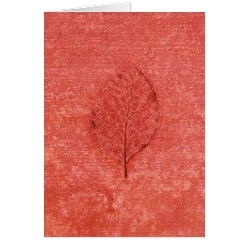 Coral Leaf Fossil Card