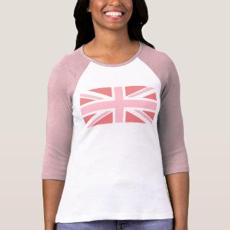 Coral ligero y Union Jack rosado Camisetas