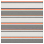 [ Thumbnail: Coral, Light Gray, Dim Gray, White, and Black Fabric ]