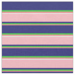 [ Thumbnail: Coral, Lime Green, Midnight Blue, Pink & White Fabric ]