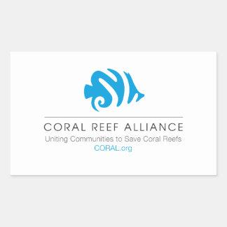CORAL Logo Rectangle Sticker