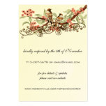 Coral Love Bird Vintage  Response Website Cards Business Card Template