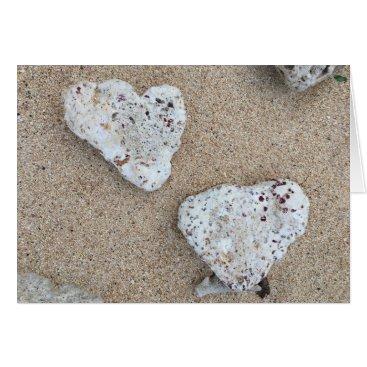 Beach Themed coral love notecard (blank inside)