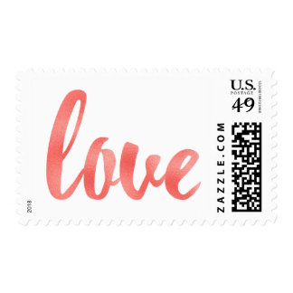 Coral love stamps, medium, foil font postage