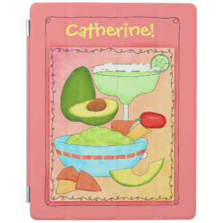 Coral Margarita Guacamole with Your Name iPad Smart Cover