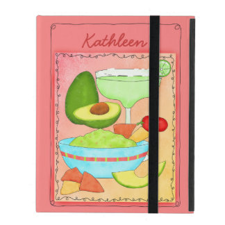 Coral Margarita Guacamole with Your Name Reader iPad Cover