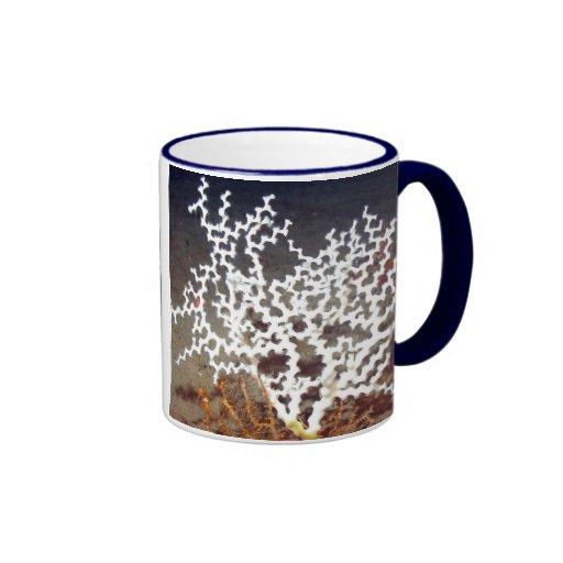 Coral Maze Ringer Mug