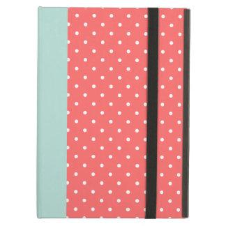 Coral & Mint Cute Tiny Polka Dots iPad Covers