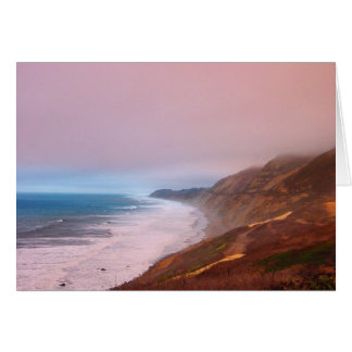 Coral Mist Sunset Card