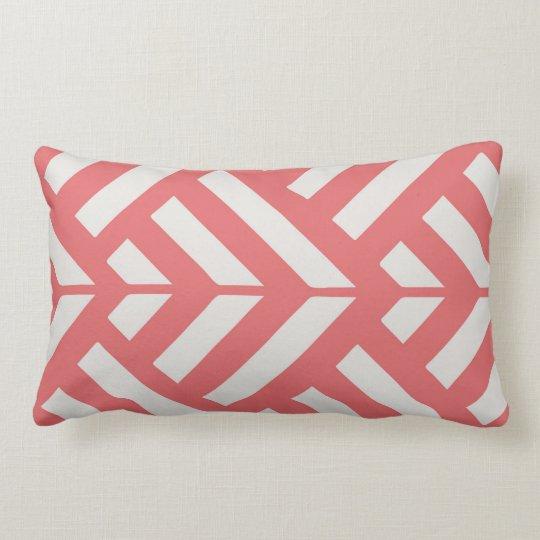 Coral Modern Lumbar Pillow Zazzle Com