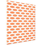 Coral Modern Oval at Emporiomoffa Stretched Canvas Print