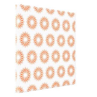Coral Modern Sunbursts Canvas Prints
