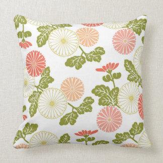 coral moderno de las tendencias floral almohadas