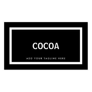 Coral moderno simple blanco y negro profesional tarjetas de visita