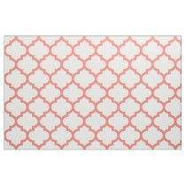 Coral Moroccan Trellis Pattern Fabric