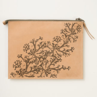 Coral Motif Travel Pouch