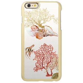 Coral Ocean Beach Angel Fish Watercolor Striped Incipio Feather® Shine iPhone 6 Plus Case