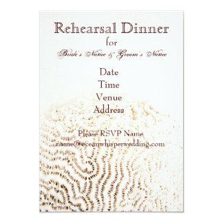 coral ocean whisper rehearsal dinner invite