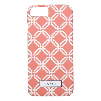Coral Octagon Link Pattern iPhone 8/7 Case