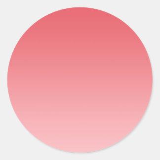Coral Ombre Classic Round Sticker