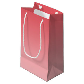 Coral Ombre Small Gift Bag