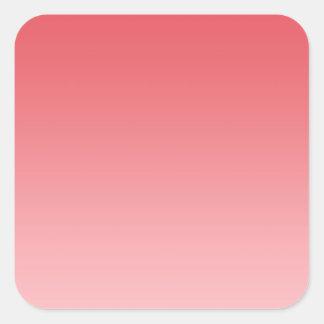 Coral Ombre Square Sticker