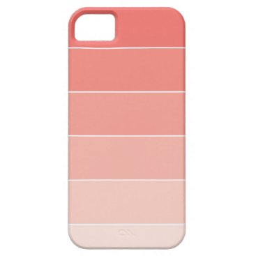 heartlocked Coral Ombré Stripes iPhone SE/5/5s Case