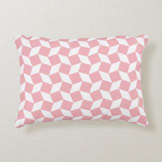 Coral Op Art Pattern Accent Pillow