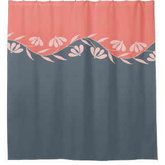 Coral Floral Shower Curtains | Zazzle