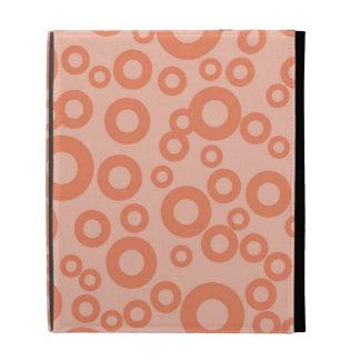 Coral Orange Salmon Circles Polka Dots iPad Cases