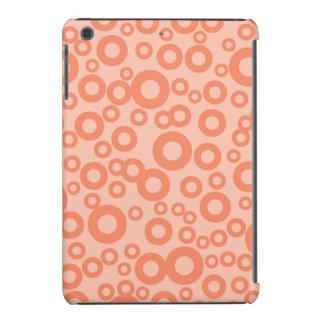 Coral Orange Salmon Circles Polka Dots iPad Mini Retina Cover