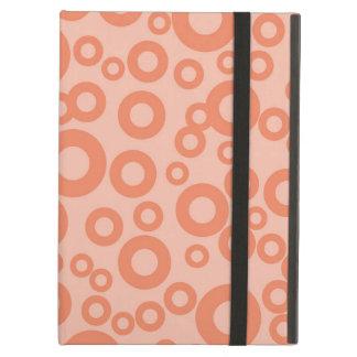 Coral Orange Salmon Circles Polka Dots iPad Air Cover
