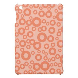 Coral Orange Salmon Circles Polka Dots Cover For The iPad Mini