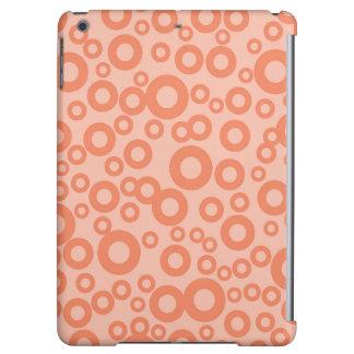 Coral Orange Salmon Circles Polka Dots iPad Air Case