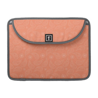 Coral Orange, Salmon, Country Paisley MacBook Pro Sleeve