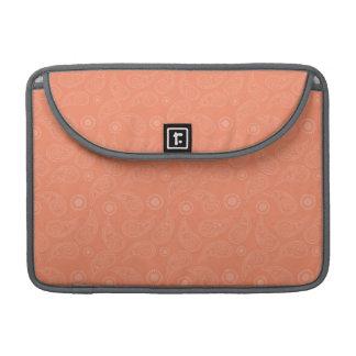 Coral Orange, Salmon, Country Paisley MacBook Pro Sleeve