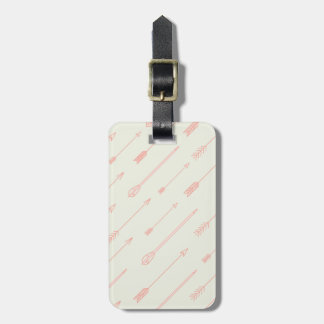 Coral Outlined Arrows Pattern Bag Tag