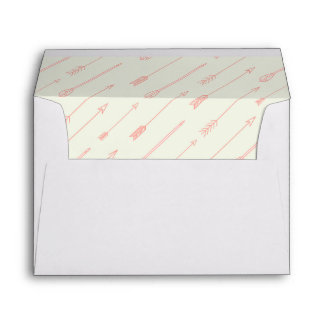 Coral Outlined Arrows Pattern Envelopes