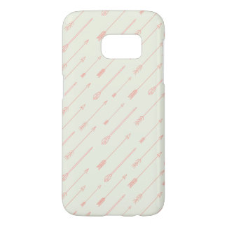 Coral Outlined Arrows Pattern Samsung Galaxy S7 Case