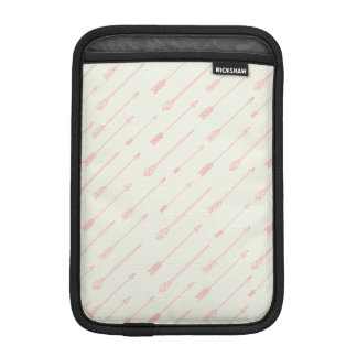 Coral Outlined Arrows Pattern Sleeve For iPad Mini