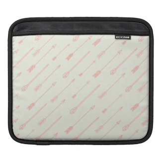 Coral Outlined Arrows Pattern Sleeve For iPads