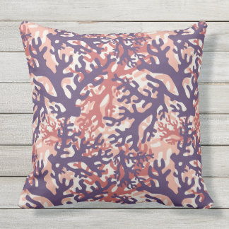 Coral Overlap Outdoor Pillow