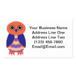 Coral Owl Business Card Templates