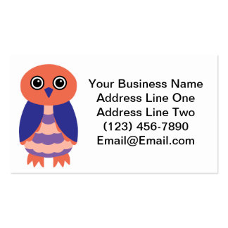 Coral Owl Double-Sided Standard Business Cards (Pack Of 100)