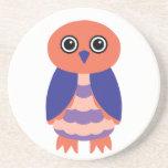 Coral Owl Drink Coaster