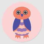 Coral Owl Stickers