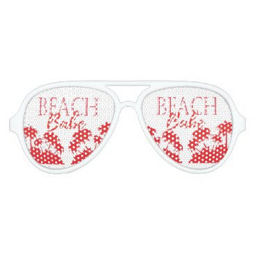 Beach Themed Coral palm Beach aviator Adult Aviator Sunglasses